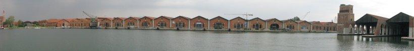 Panorama inside Arsenal of Venice