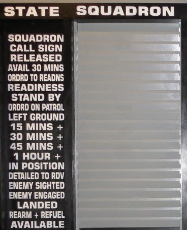 Fighter Information Board Close Up