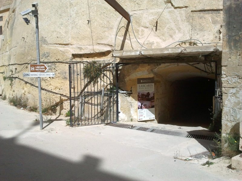 Entrance to the Lascaris War Rooms