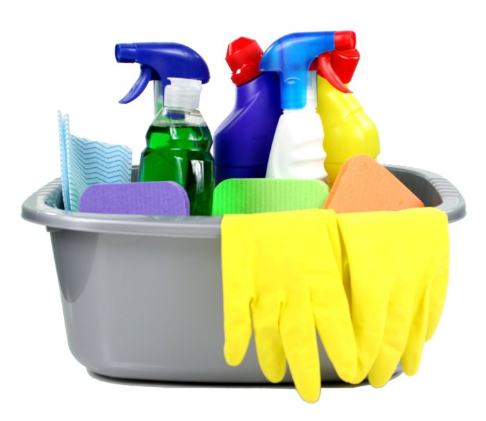 Cleaning Tools in Bucket
