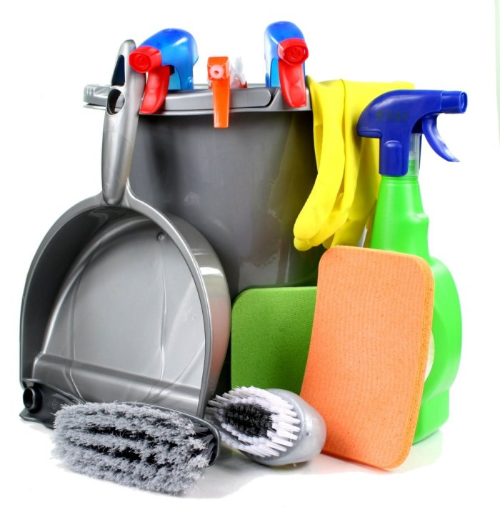 Cleaning Tools in Bucket 2