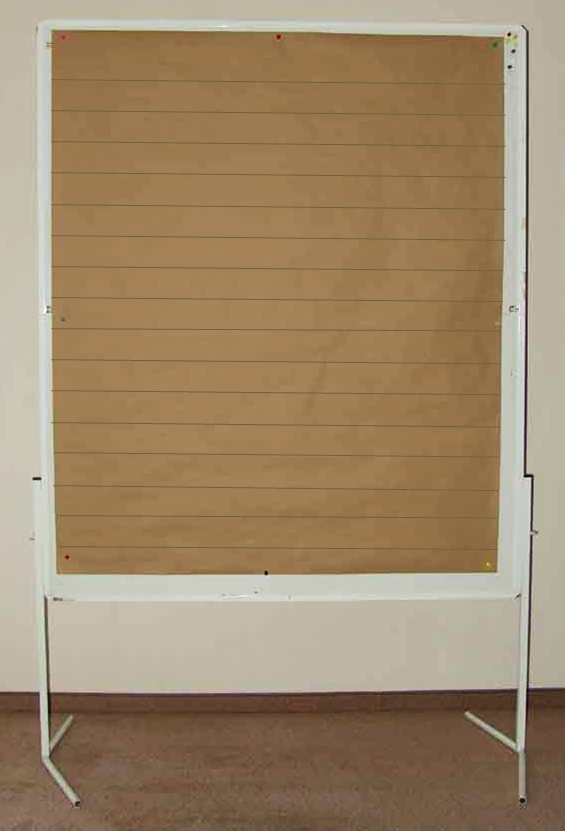 Pin board with Brown Paper and Lanes