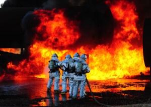 Firefighter drill