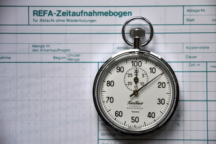 REFA time study and Stopwatch