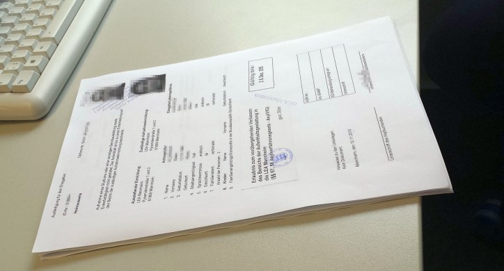 Refugee Documents to sign
