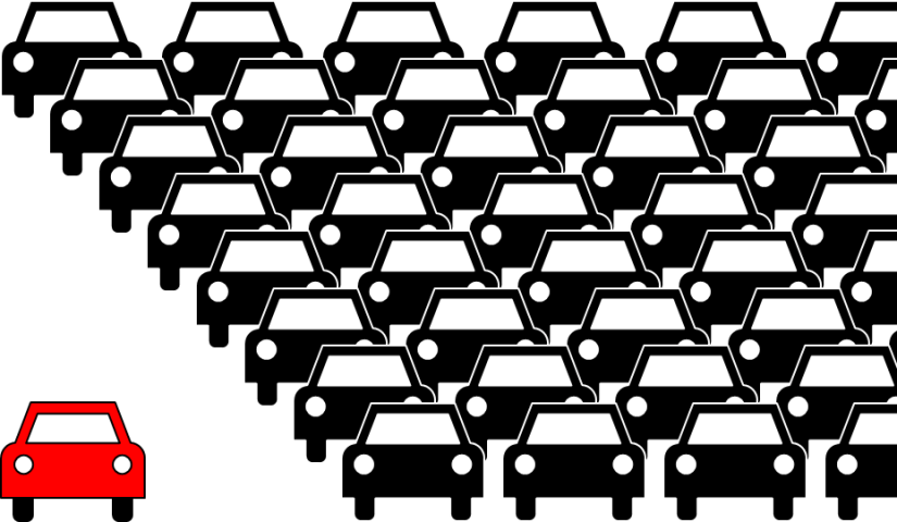 Many Cars vs One Car