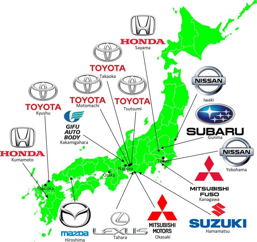 Grand Tour of Japanese Automotive Map