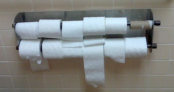 12 toilet paper rolls
