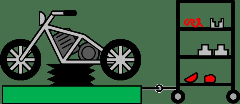 Bike Assembly Pull Kit