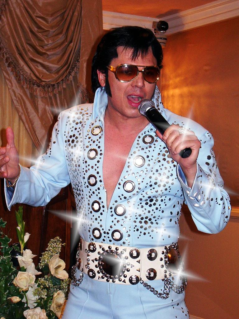 Sparkling Elvis Impersonator