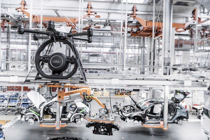 Audi Drone with Steering Wheel