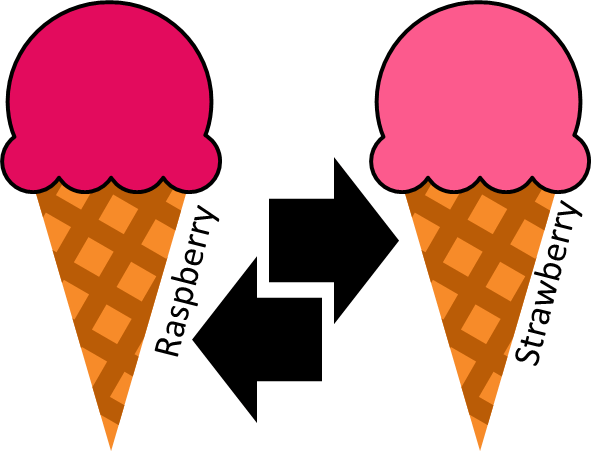 Ice Cream Change Over from Raspberry to Strawberry
