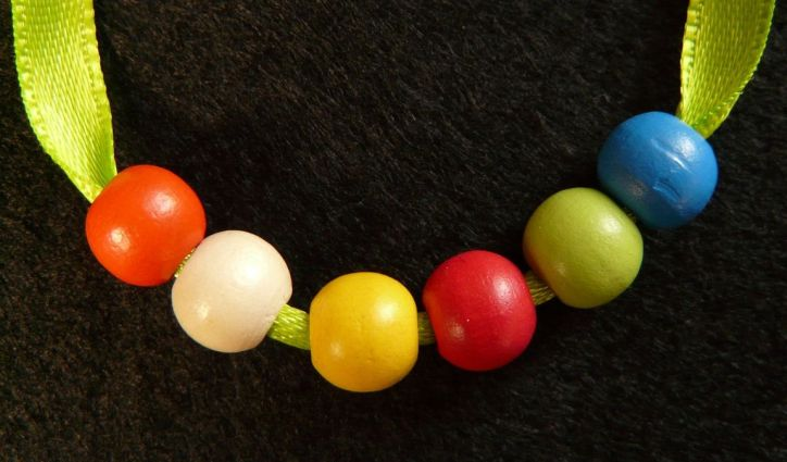 Wooden Beads on String