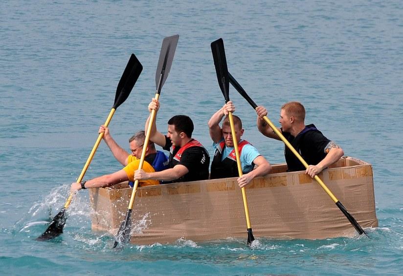 Cardboard Boat