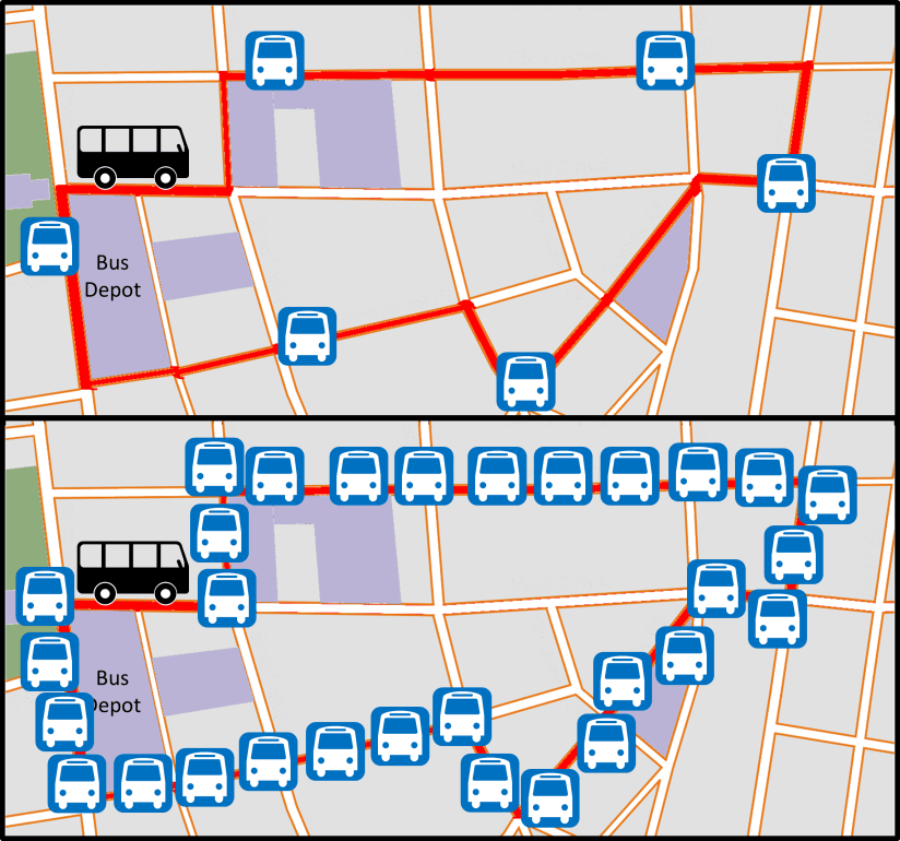 Bus Route Few or Many Stops