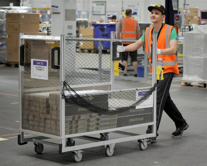 Amazon Employee with Shelf