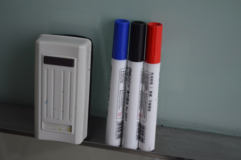 Whiteboard Marker and Eraser