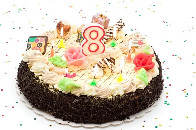 Eight Birthday Cake