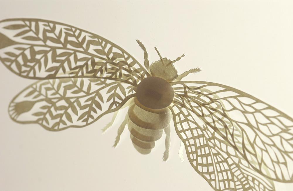 Large Paper Bug. Sculpture by Elsa Mora