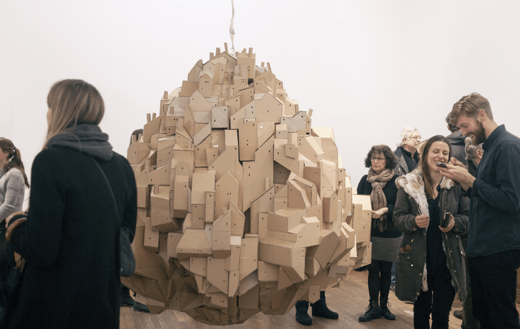 Cardboard Sculpture by Nina Lindgren