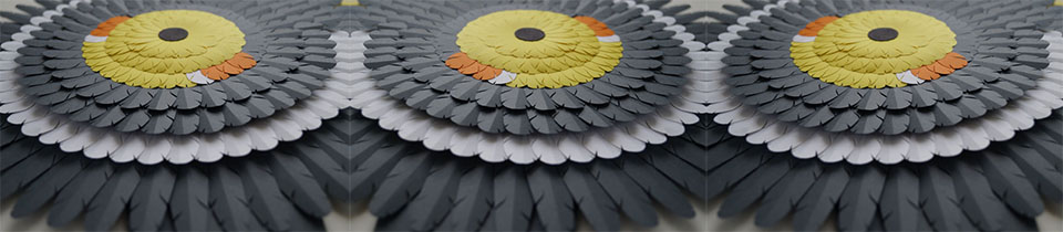 Paper Sculptures by Marine Coutroutsios.