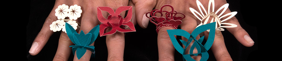 Greeting Cards That Fold Into Wearable Paper Rings.