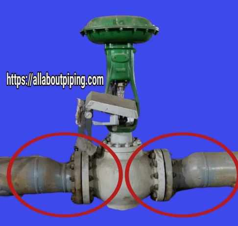 flanged piping connection