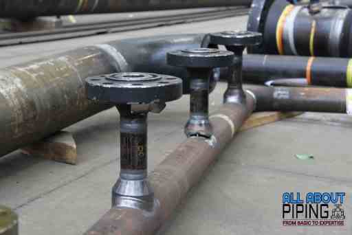 Welded piping connection