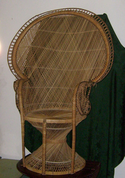 fan back wicker chair desk accessories all about props residential