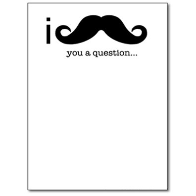 I Mustache You a Question Funny Notepad Note Book Memo Pad