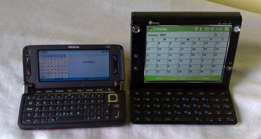 E90 versus HTC Advantage