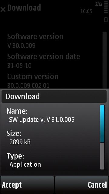Nokia 5530 v31 update