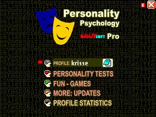 Personality Psychology Pro title screen