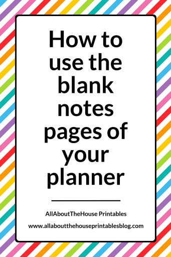 how to use the blank notes pages of your planner erin condren plum paper planner sticker flag rainbow to do wish list calendar organization planner accessories