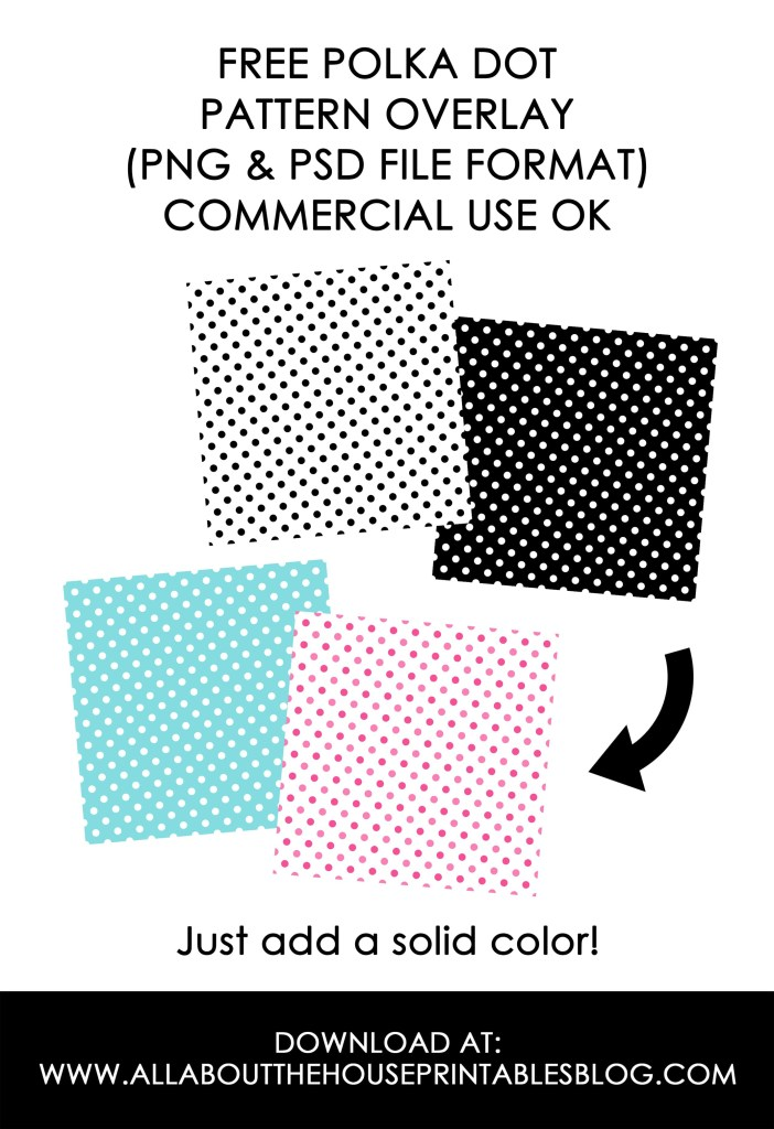 FREE polka dot pattern overlay digital paper template surface design graphic design commercial use free printable