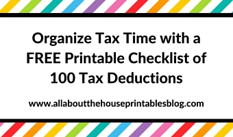 What Expenses Can I Claim? FREE Printable Checklist of 100 Tax Deductions