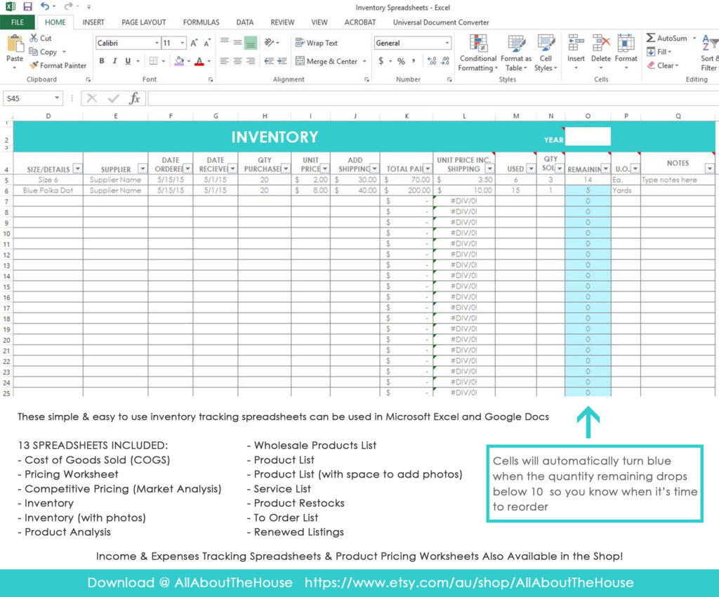 My Simple And Easy Method For Tracking Product Inventory Using Excel Spreadsheets