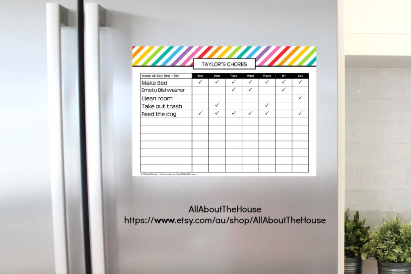 printable-chore-chart-rainbow-childrens-chore-chart-task-weekly-routine-cleaning-routine-reward-household-management-household-binder-planner-printable