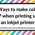 7 Ways to make colors POP when printing using an inkjet printer