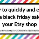 How to quickly & easily run a Black Friday sale for your Etsy shop