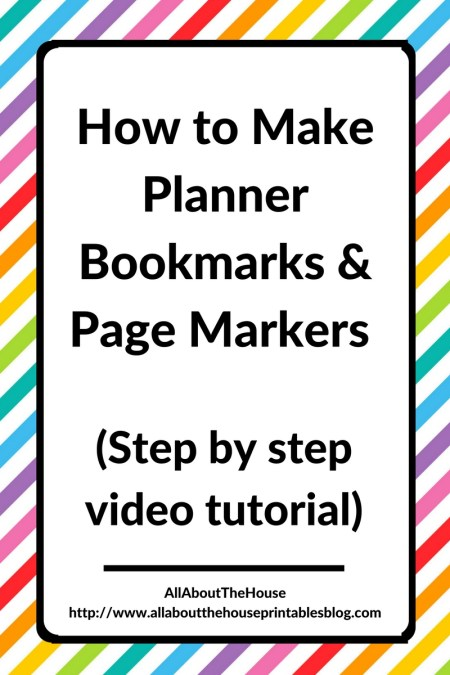 how to make planner bookmarks and page markers planner printable diy accessory erin condren plum paper limelife