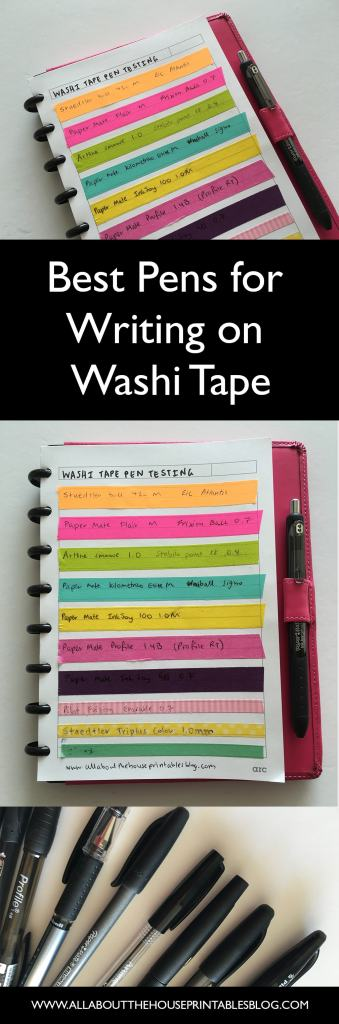 best planner pens for writing on washi tape planner supplies pen testing erin condrne day designer tools favorite black planner pens