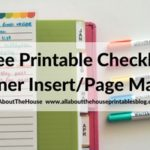 Free printable planner insert (for to do lists, grocery lists, weekly routine tasks etc.)
