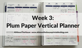 Plum Paper Vertical Planner – Better than the Erin Condren? (52 Planners in 52 Weeks – Week 3)