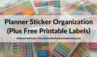 How to organize planner stickers using folders (plus free printable labels)