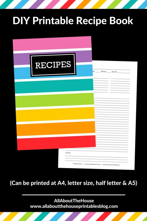 how to make a recipe book binder organization free printable planner cover binder cover recipe card sheet editable a4 a5 us