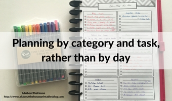 Planning by category and task, rather than by day (52 planners in 52 weeks – week 5)