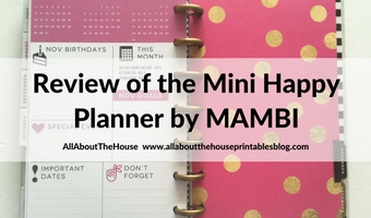 MAMBI Mini Happy Planner Review (pros, cons, should you buy it?)