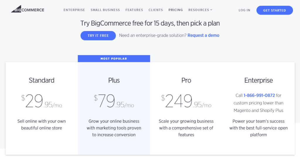 bigcommerce pricing plan cost review is it worth it affordable how to start an online store website ecommerce host digital products download