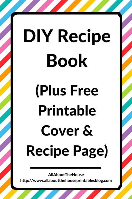 diy recipe book free printable rainbow editable cookbook organization cheap planner hack recipe card a5 half letter a4 gift